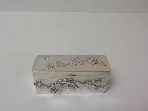 Chinese Export 900 Silver Embossed Box, marked Sing Fat, c. 1900