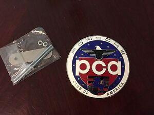 Official Porsche PCA Car Club of America Grill Badge Emblem Hood Ornament