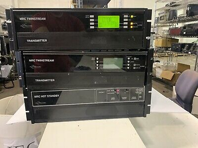 Mrc Hot Standby And 2x Mrc Twinstream Transmitters Microwave Radio Corp Mw0