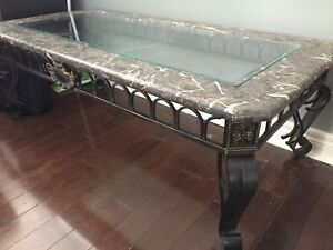 Cast iron/marble/glass tables