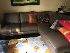 Brand new pure cowhide Natuzzi sectional couch/sofa