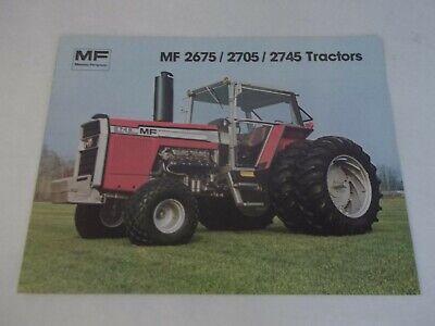 Massey Ferguson Mf 2675 2705 2745 Tractors Brochure