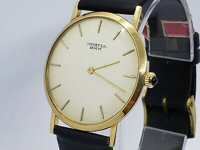 Men's Universal Geneve automatic 18k solid yellow gold watch