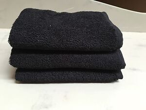 Black Egyptian Cotton Face cloths, set of 3 Mosman Mosman Area Preview