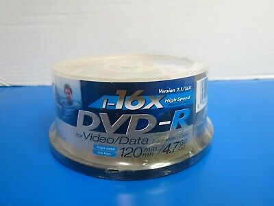 Used, 50 Pack Spindle Gigaware DVD-R 120 Min Video 4.7GB Data 16X Speed Blank Discs for sale  Shipping to India