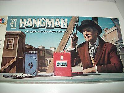 Hangman Board Game   Vintage 1976  Milton Bradley