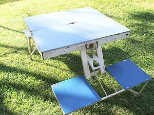 Folding Portable Picnic Outdoor Camping Set Table & 4 Chairs Tighes Hill Newcastle Area Preview
