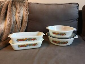Fire King Nature's Bounty Cooking Baking Dishes
