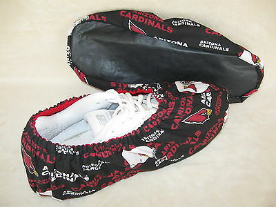 Men's Nfl (cardinals) . Bowling Shoe Covers. Handmade. Lined With Vinyl Soles.