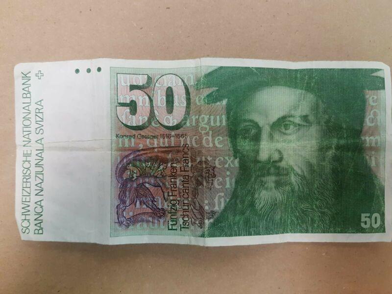 Swiss 50 Francs VF Face Value $56