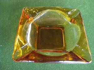 Ashtray - Classic RETRO Amber (Large) - 1950S/1960S(ORIGINAL) Brunswick East Moreland Area Preview