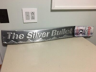 "Vintage Coors Beer ""The Silver Bullet"" Tin Metal Sign RARE, HTF"
