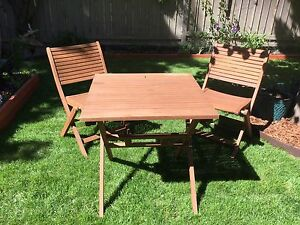 Two Chairs and Tabler