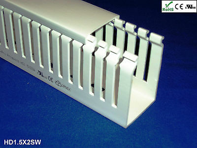 18 New 1.5x2x2m Open Slot Open Slot Wiring Ductcable Raceway With Coverwhite
