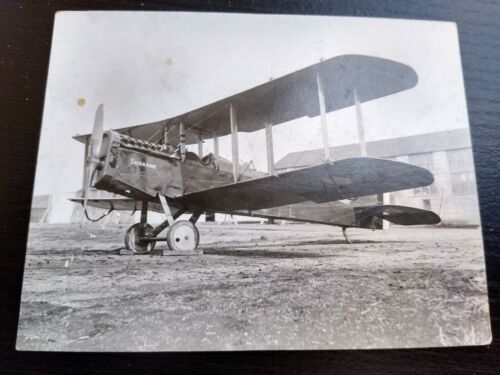 Antique Photograpgh of Biplane Susanne