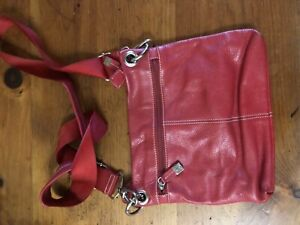 Red Cross body Leather Bag/Purse
