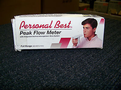 Personal Best Full Range Flow Meter w Integrated Asthma Management Zone System Personal Best Full Range