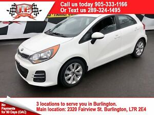 2016 Kia Rio EX, Auto. Back Up Camera, Heated Seats, 33, 000km