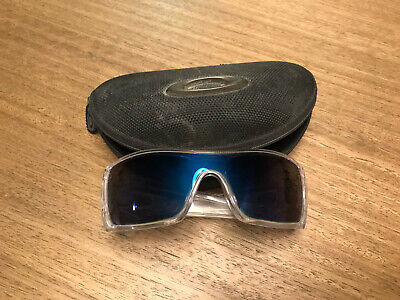 Oakley Clear Batwolf Blue Lens Men's Sunglasses