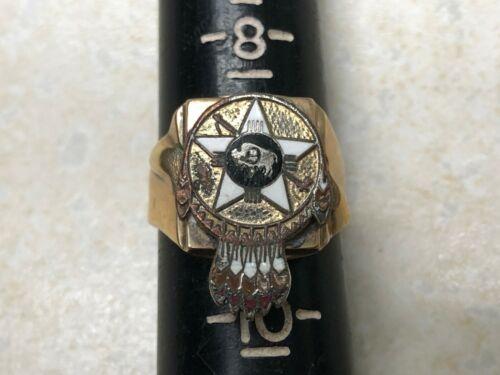 Vintage Boy Scout Region 9 10k Gold Ring - Size 9