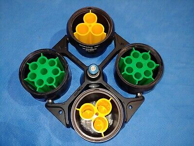 Sorvall Rth-750 Centrifuge Rotor 11788 Buckets With Inserts 00445 00447