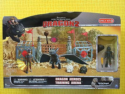 How To Train Your Dragon Heroes Training Arena Hiccup Toothless Figures Play Set
