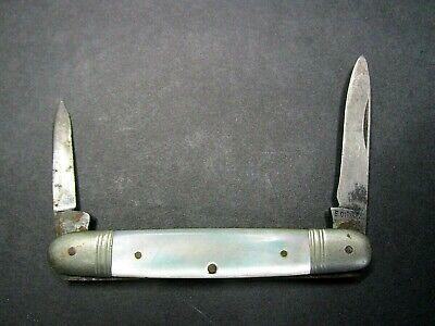 FOLDING POCKET KNIFE SOLINGEN MOP MOTHER PEARL VINTAGE GERMANY DIREMM RARE OLD