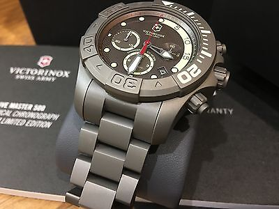 241660 Victorinox Swiss Army 42mm Automatic Chronograph Titanium Bracelet Watch