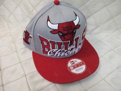 df215641f1a76 Chicago Bulls New Era Hardwood Classics Snapback Cap 9Fifty Hat M L