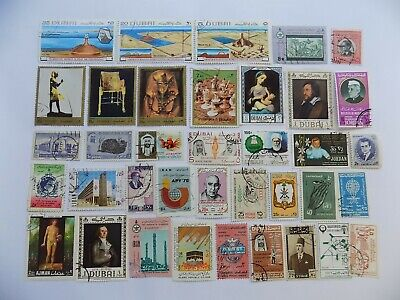 Middle East collection of used stamps off paper-8-3-N-We combine shipping