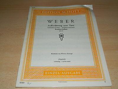 WEBER - Aufforderung zum Tanz - Piano vierhändig - Edition Schott