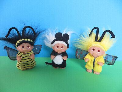 Dam Troll Gnom 3 Trolle mit Kostüm Biene ( Hummel) Schmetterling Katze ??  - Fantasy Kostüm Schmetterling
