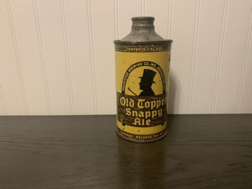 Old Topper Snappy Ale 12 oz. IRTP J-Spout cone top from Rochester, New York