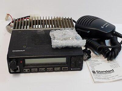 Standard Gx4800utac 25 Watt 450-480 Mhz Uhf Ltrconv Gmrs Mobile Radio New Mic