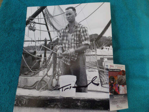 Tom Hanks in Forrest Gump  autographed 11x14 Fishing   photo JSA  Certified