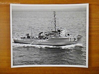 Official Us Navy Minesweeper Coastal Ship Photo 8X10 Msc 193 Uss Jacana