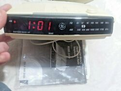 EUC GE GENERAL ELECTRIC 2-9710A LCD ALARM CLOCK RADIO PHONE W/MANUAL