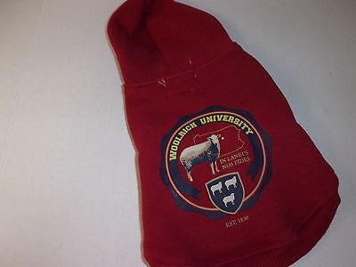 (Woolrich University Dog HOODIE Sweat Shirt Jacket XS New pet puppy maroon XSmall)