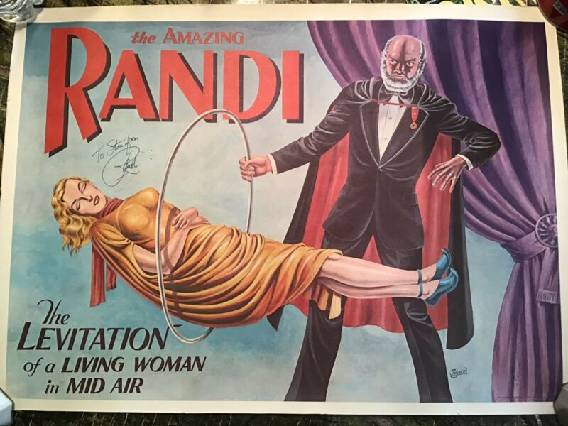 Magician amazing Randy Sign Poster Free Shipping U.S.