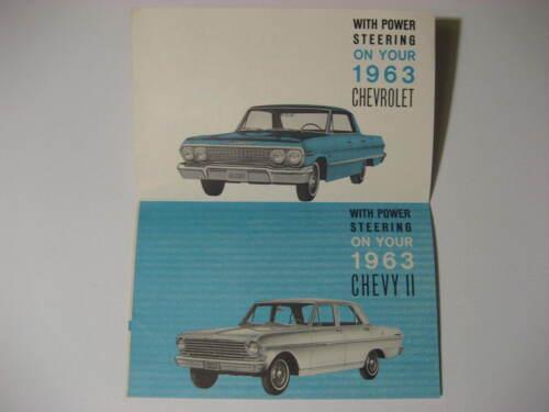 1963 Chevrolet Power Steering Brochure