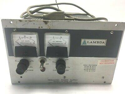 Lambda Lk-341a-fm Regulated Power Supply Max 13a