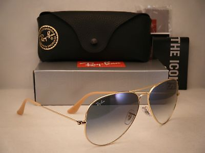 Ray Ban 3025 Aviator Gold w Blue Gradient Lens (RB3025 001/3F 62mm (Ray Ban Aviator Size 62mm)