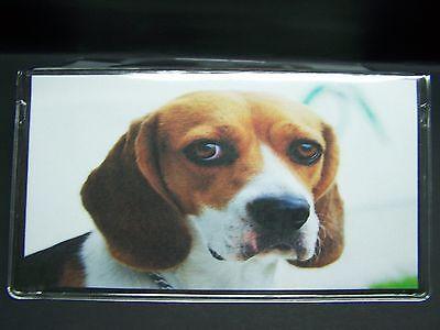 BEAGLE DOG SO CUTE IMAGE VINYL CHECKBOOK COVER