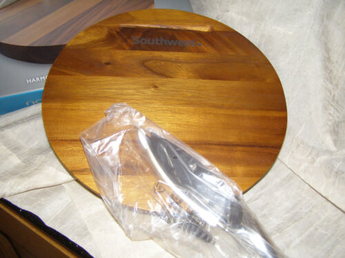 Southwest Airlines Nambe Harmony Gourmet Cheese Board W/Stainless Steel Knife