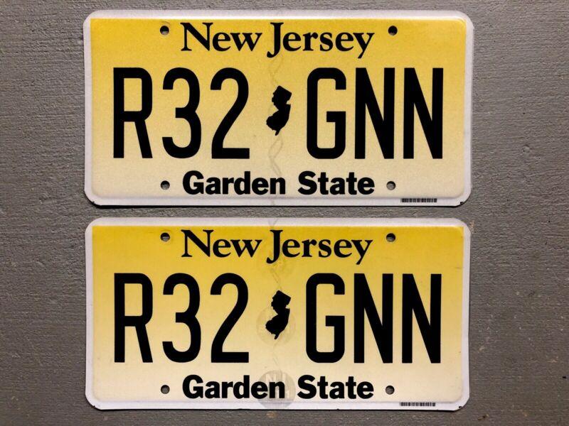 NEW JERSEY LICENSE PLATE PAIR/SET GARDEN STATE R32-GNN FREE SHIPPING!! MINT!!!!