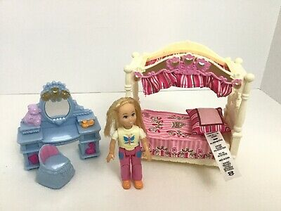 Fisher Price Loving Family Premium Girls Bedroom Dollhouse Furniture Vanity 2009