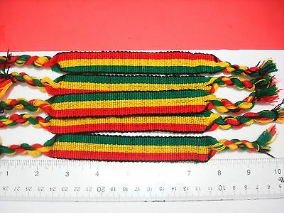 12 friendship bracelets handmade Rastafarian color 704G