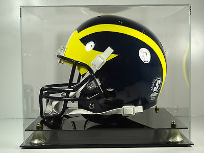 Football Helmet Display Case Full Size sports memorabilia black acrylic base - Memorabilia Display Cases