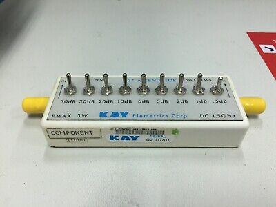Kay Elemetrics Corp 837 Attenuator Dc-1.5ghz 50 Ohm Pmax 3w
