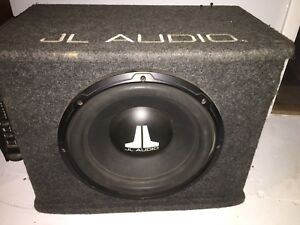 "12"" JL Audio sub and box with amp"